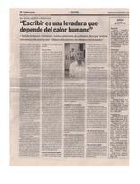 Escribir es una levadura que depende del calor humano – Diario Primera Edición 2007