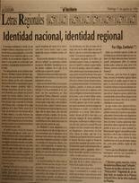 Identidad nacional, identidad regional