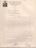 Nota Pedido Casilla de venta de literatura misionera 1989